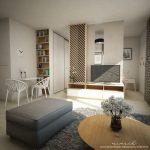 Vstavaná skriňa na mieru -1-izbový byt - projekt DÚBRAVY