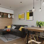 Atypická vstavaná skriňa na mieru do obývačky - 4-izbový byt v Dúbravke